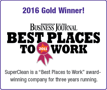 2016 gold winner, minneapolis saint paul business journal, best places to work, super clean is a best places to work award winning company for three years running
