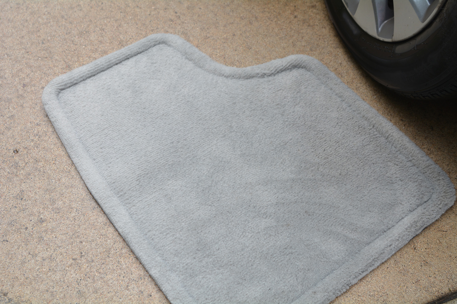 Clean car floor mat after using Super Clean.