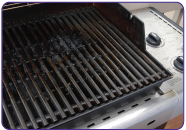 Dirty BBQ grill before using Super Clean.