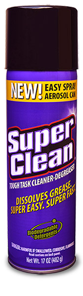 Superclean Aerosol Cleaner-Degreaser 17 Ounce