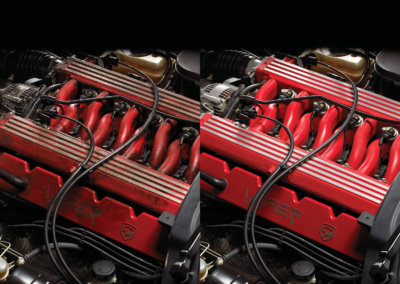 Engine before and after