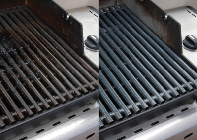 Grill before and after