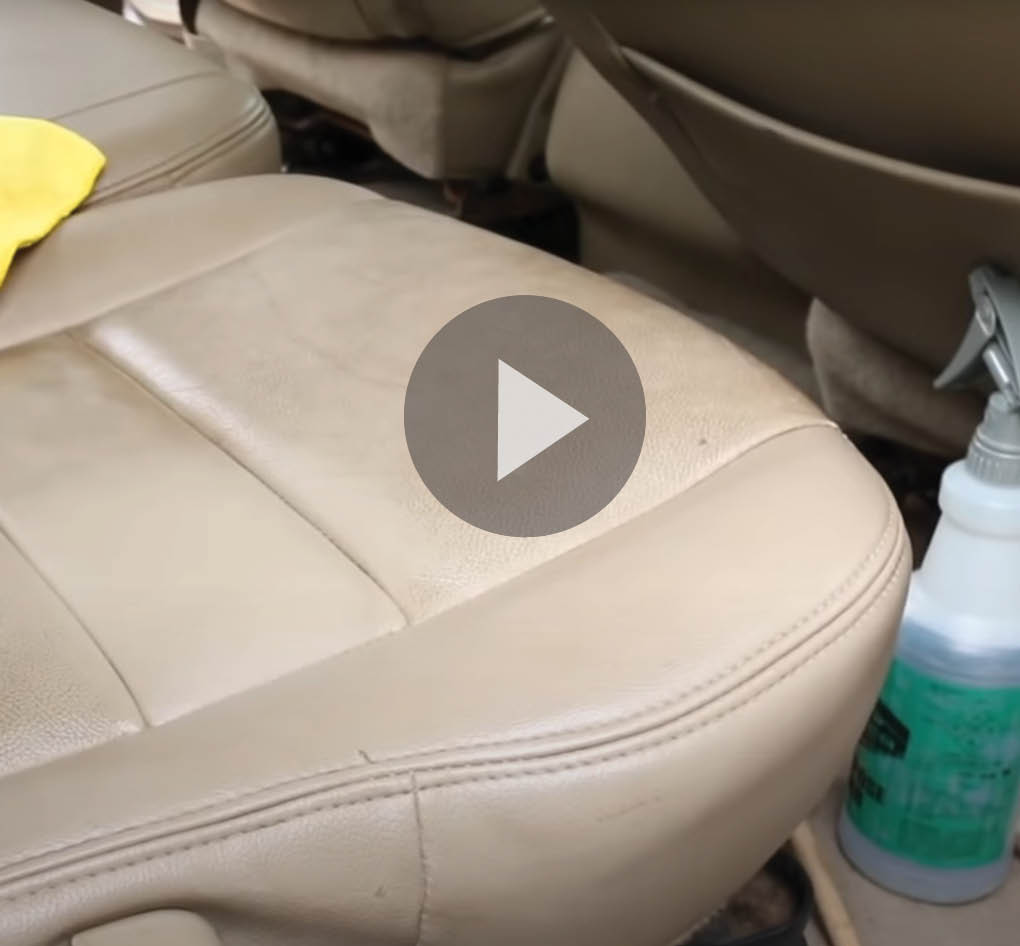 Video Still of car seat to be cleaned