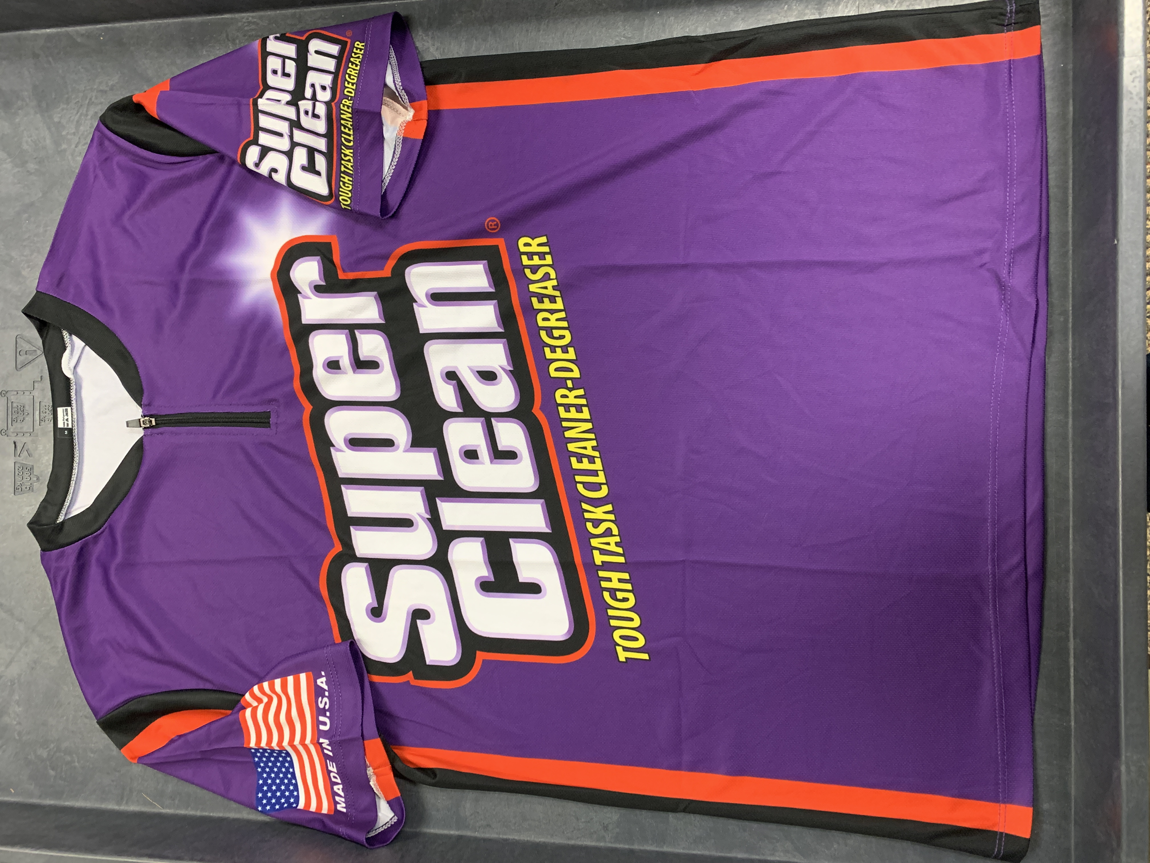 Picture of front of Super Clean Jersey