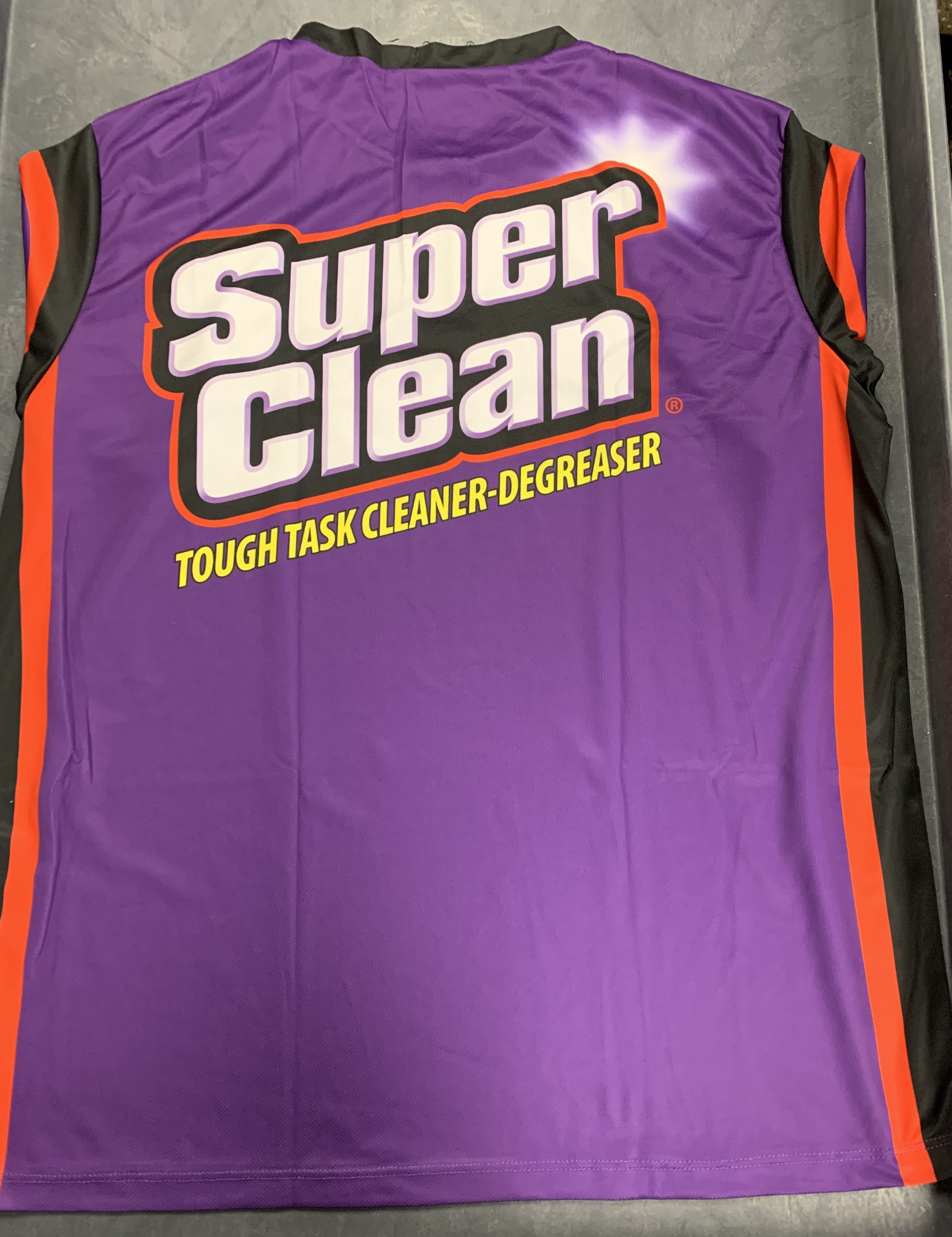 Super Clean jersey back with logo
